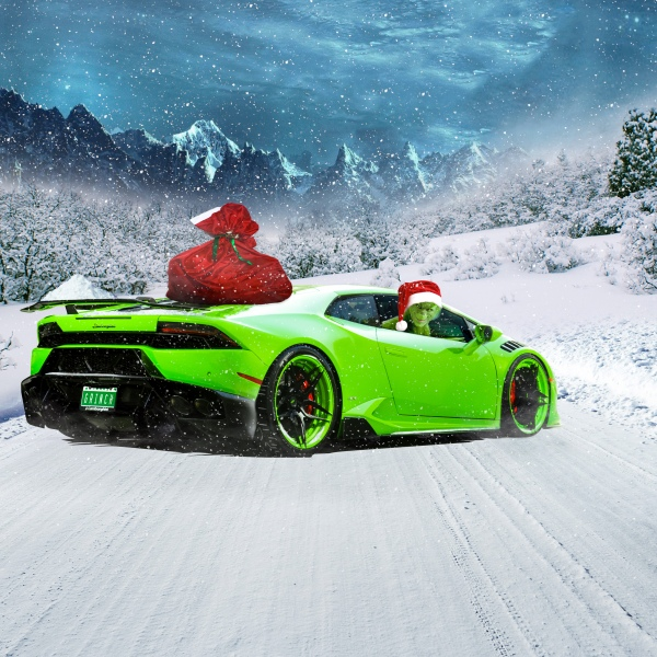 Summer to Winter In A Lamborghini Huracan - Houston Automotive Photography